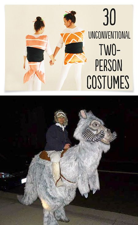 30 Weird and Creative Two-Person Costumes for Geeks - TechEBlog