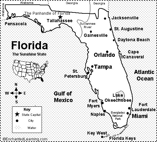 Best Florida Maps Ideas On Pinterest Map Of Florida Beaches - Georgia map key