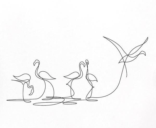 Zeichnen mit nur einem Strich: Linienkunst aus Fra…