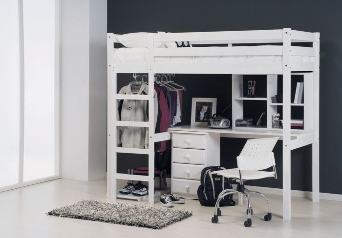 17 best images about chambre on pinterest child room for Lit mezzanine ikea