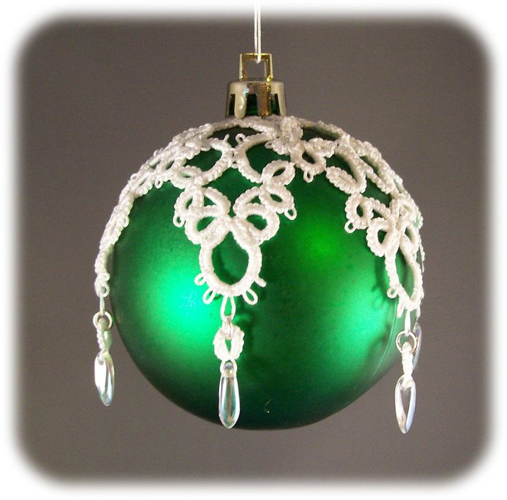 Tatted lace ornament. Image only