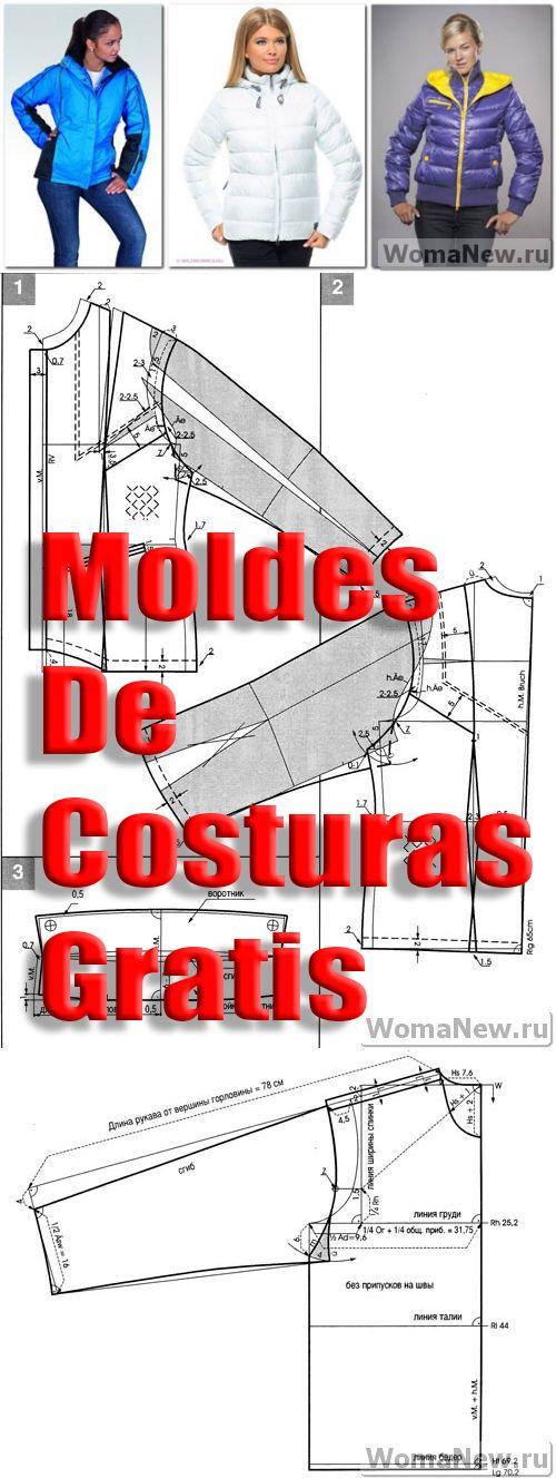 Moldes y patrones gratis #patterns #patrones #moldes #cursos #sewingpattern #sewing