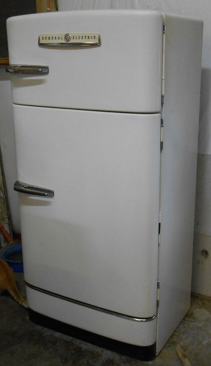 Antique vintage unfinished refrigerators - Refrigerator 1940s Ice