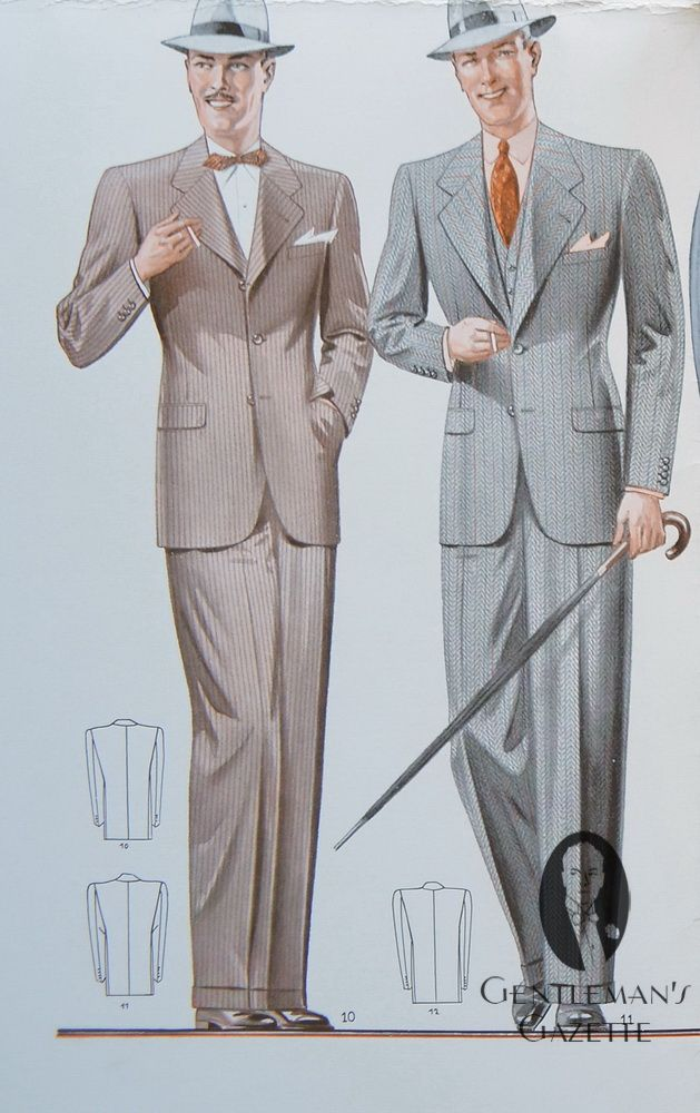 English mens fashions 1930 | Viennese Suit Styles of the 1930's