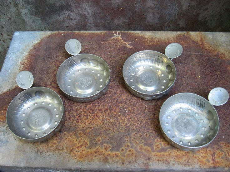 French Tastevin Cups, set of 4, from Joigny (Bourgogne/Burgundy). Metal wine tasting cup. Great wine  lover club / party  gift @PumpjackPiddlewick
