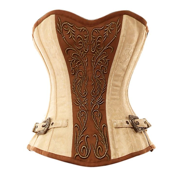 VG-107 Ivory Brocade Pattern with Bronze Panel and Gold Detailing CorsetIvory Vintage, Steampunk Corset, Vintage Goth, Ivory Brocade, Bronze Panels, Gold Details, Brocade Pattern, Steampunk Clothing, Details Corsets