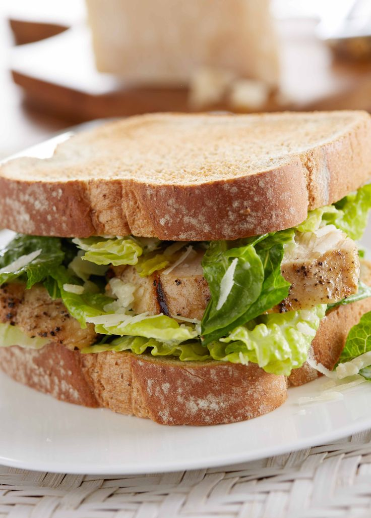 Salad-on-a-Sandwich: NEW Sara Lee Artesano Golden Wheat Bread is the only thing your Caesar salad is missing. Turn your salad into a sandwich with the classic combo of grilled chicken breast, romaine, Caesar dressing and a little Parmesan cheese for an instant new favorite.
