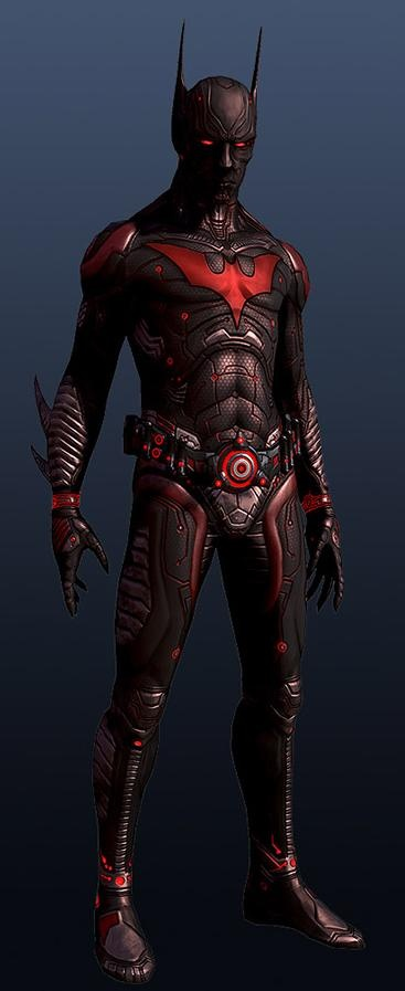 Batman Beyond - cg model rendering concept