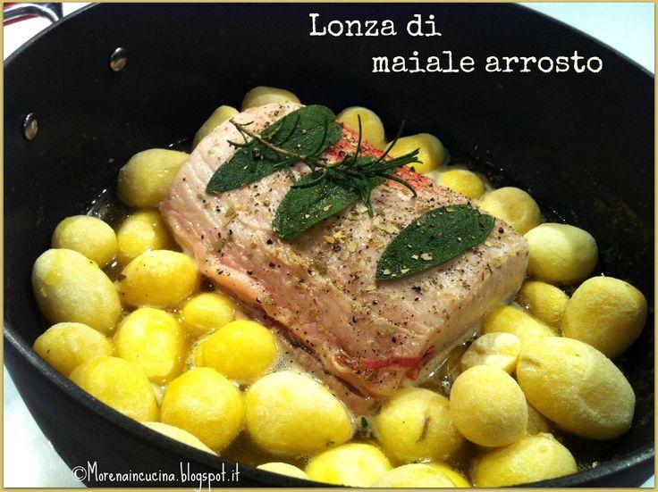 Lonza di maiale arrosto con patate novelle | Morena in cucina
