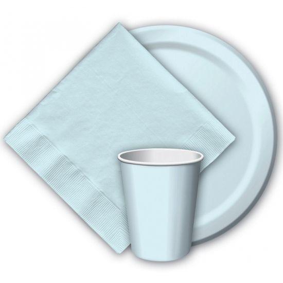 Lichtblauwe wegwerp borden 8 stuks  Lichtblauwe papieren borden. Deze lichtblauwe borden zitten verpakt per 8 stuks en hebben een inhoud van 256 ml. Deze lichtblauwe wegwerp borden zijn gemaakt van stevig papier/karton.  EUR 2.95  Meer informatie