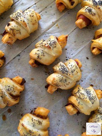 Mini croissants tomates et jambon de parme Bonne résolution # 7 : Etre heureux !