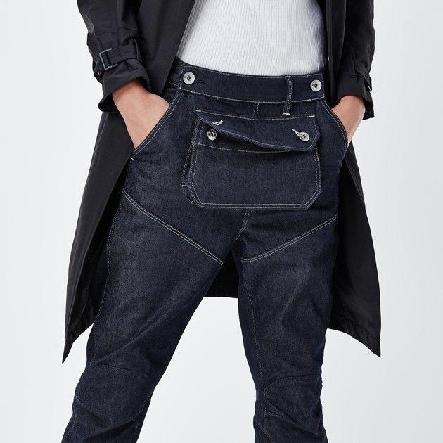 Een vleugje industriële punk en een vleugje biker: deze versie van de kenmerkende G-Star jeans met hoge taille heeft een onconventionele extra zak met ee...