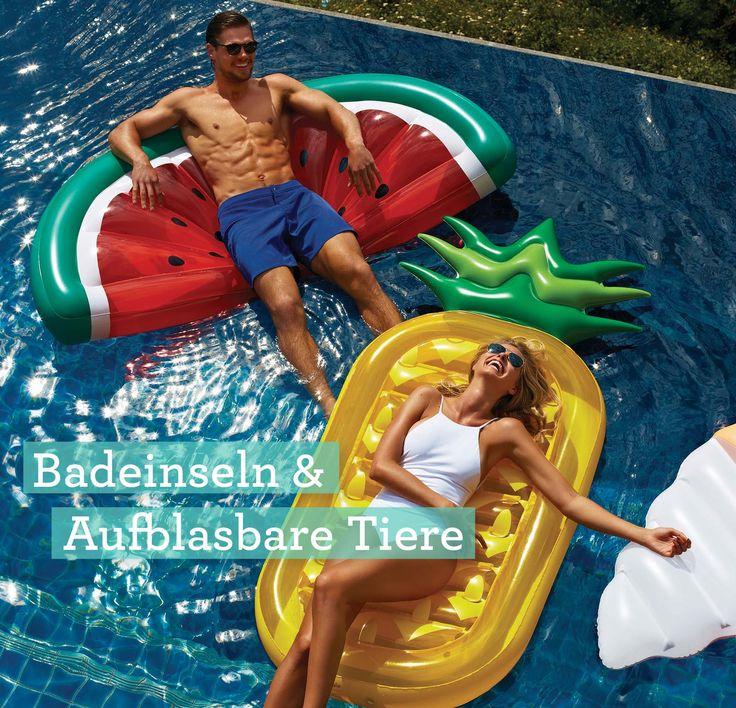 Badeinseln, Luftmatratzen & aufblasbare Tiere – wir haben die coolsten Schwimmringe und Matratzen für den Sommer!