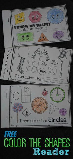 FREE Shapes Emergent Reader is such a fun way for preschool, prek, kindergarten, and first grade. NO PREP! #daycareideas