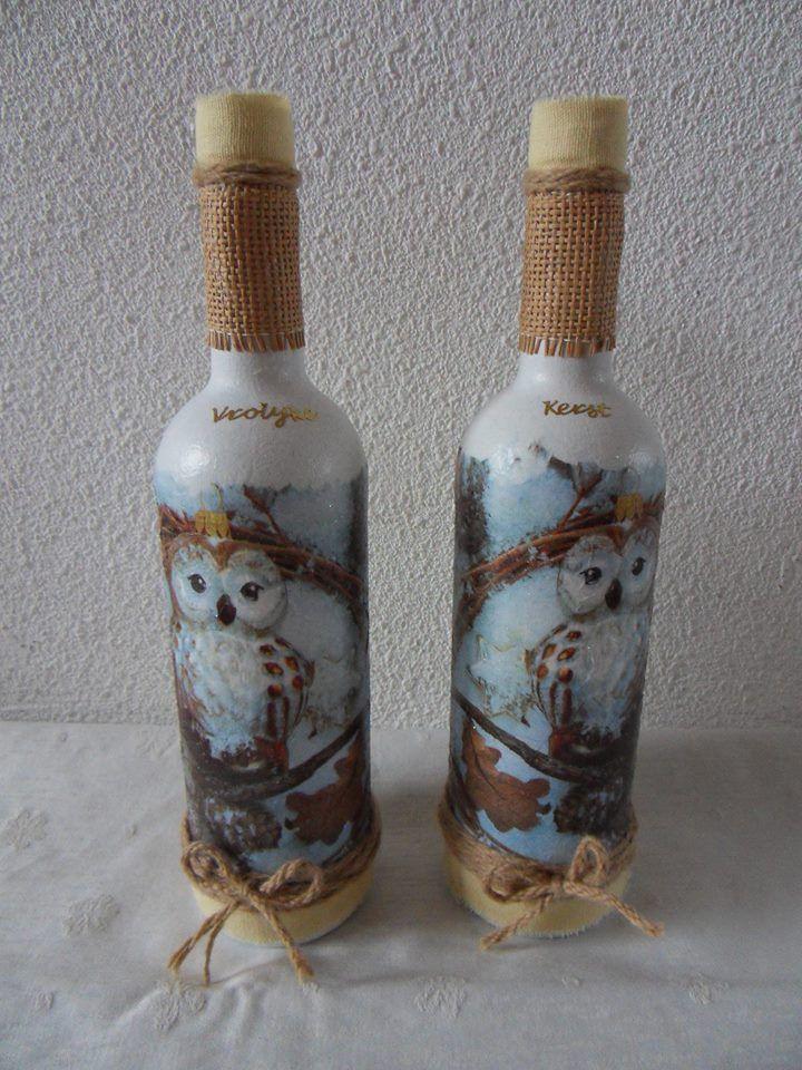 25 beste idee n over wijnfles decoraties op pinterest for Decoratie fles