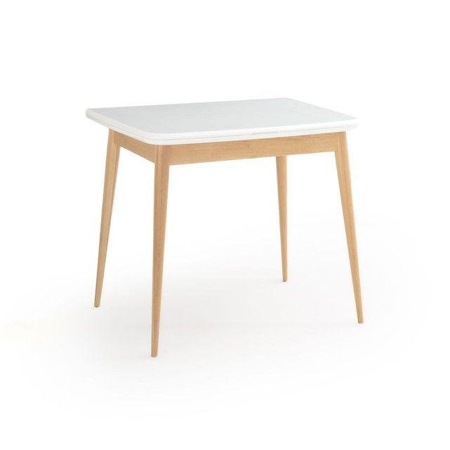 Table Repas A Allonge 2 A 6 Personnes Jimi Blanc La Redoute Interieurs La Redoute Table A Manger Table A Manger Extensible Table