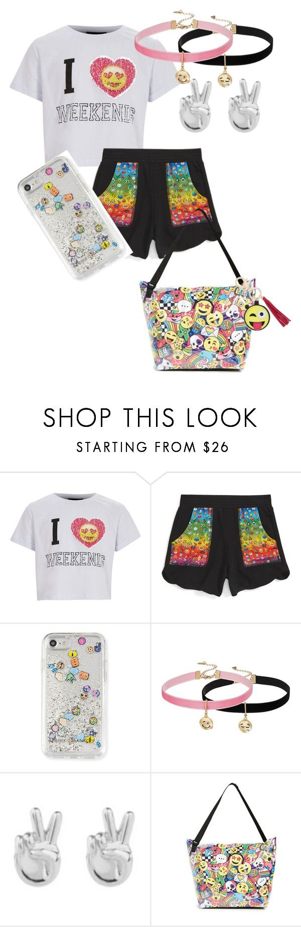 """Emoji #2"" by beyondbethany8 ❤ liked on Polyvore featuring Terez, Rebecca Minkoff, Steve Madden and Rock 'N Rose"
