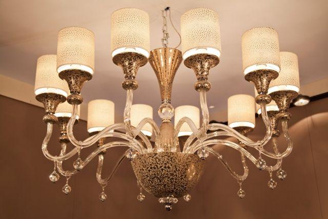 NEW chandelier Alien, crystall and platinum porcelain