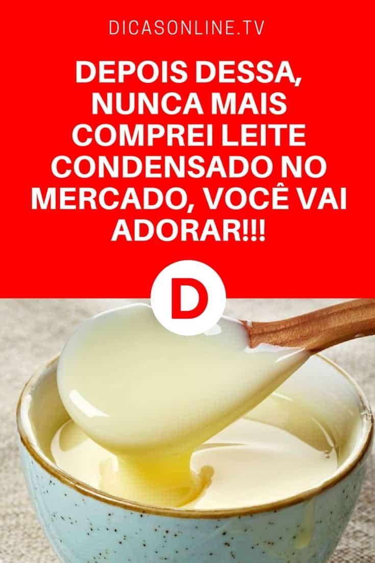 Leite condensado caseiro   DEPOIS DESSA, NUNCA MAIS COMPREI LEITE CONDENSADO NO MERCADO, VOCÊ VAI ADORAR!!!