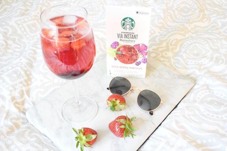 My take on the Very Berry Hibiscus Starbucks iced tea.