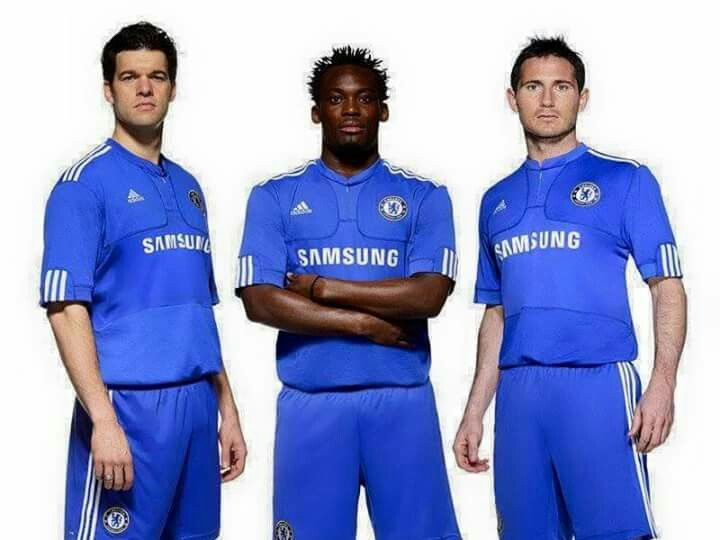 Ballack, Essien and Lampard