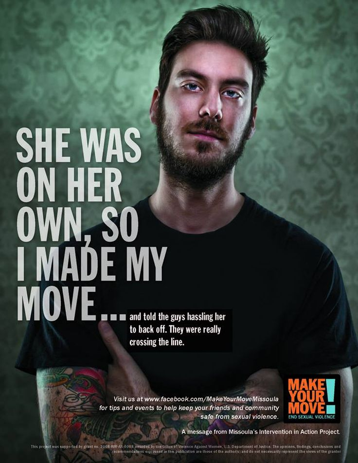 """atleastiamme: """" ethiopienne: """" Make Your Move is an effort from Missoula's Intervention in Action Project, a group of community organizations dedicated to ending sexual violence. Its campaign's goals..."""