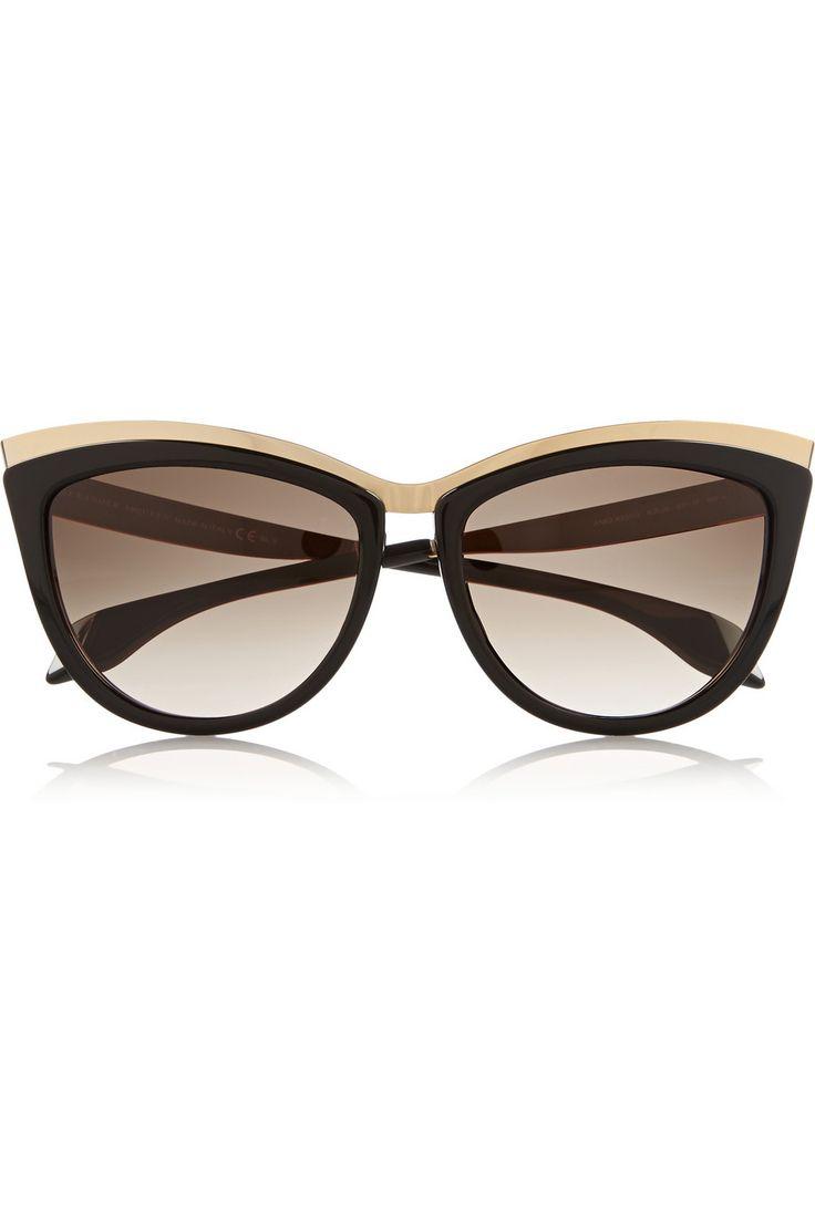 Sunglasses On Sale, Matte Black, 2017, one size Alexander McQueen