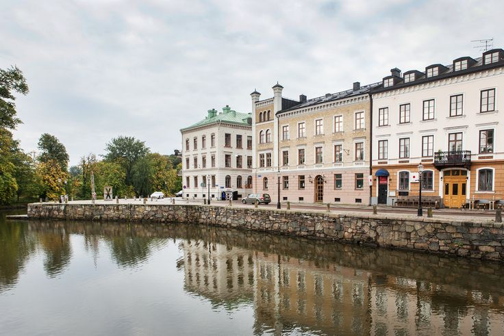The canal and street Stora Nygatan in Gothenburg, …