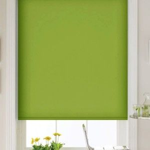 Bright Green Dim Out Roller Blind