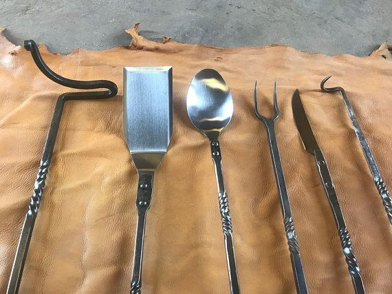 6 Pc Outdoor Cooking Set Braided Handles 画像あり