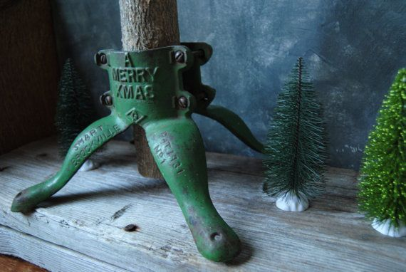 Antique Cast Iron Christmas Tree Stand: Christmas by Untried on Etsy