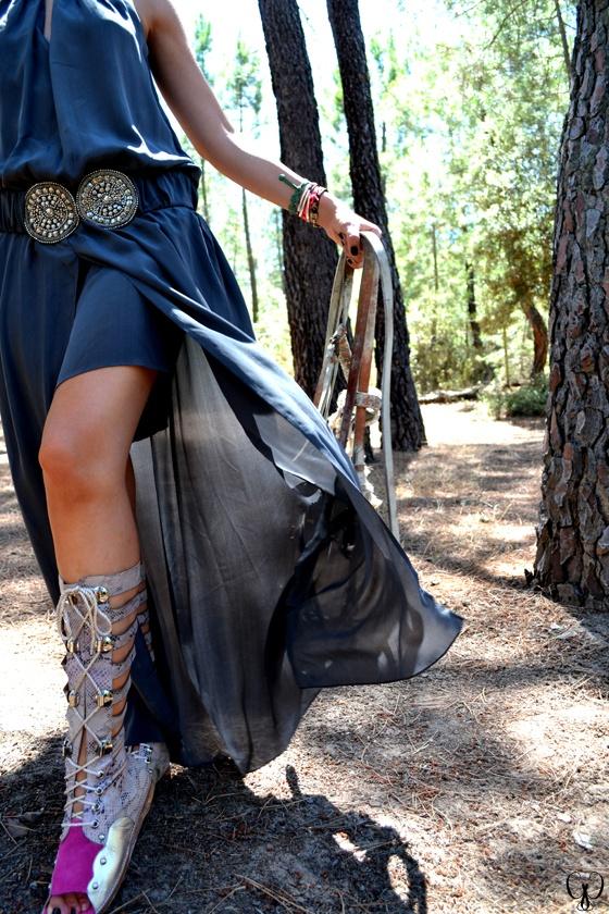 Romain sandals & Sayan dress
