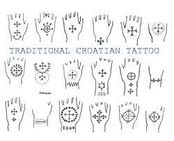 Traditional Croatian Tattoos - 1900's