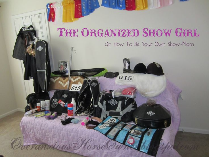 This chick has some neat ideas for show organization and packing...  Diary of the Overanxious Horse Owner: The Organized Show Girl