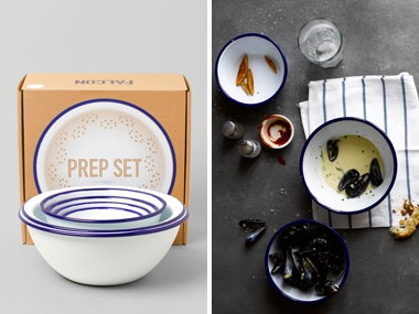 Kitchen Gifts | Everywhere   DailyCandy The Beautiful Enamel Prep Set From  Falcon Enamelware Featured In