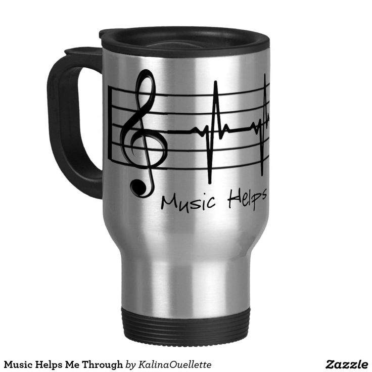Music Helps Me Through Stainless Steel Travel Mug
