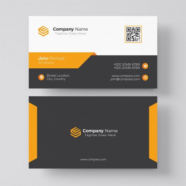 Modele De Carte De Visite Orange Elegant Business Card Logo Design Graphic Design Business Card Corporate Business Card Design