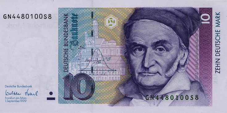 Deutsche Mark Billetes de banco, Billetes, Sellos
