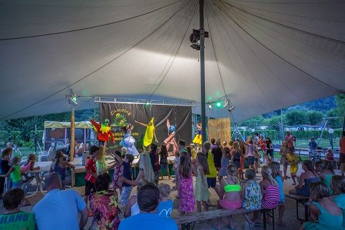 Evening entertainment for children, Camping Lago di Levico