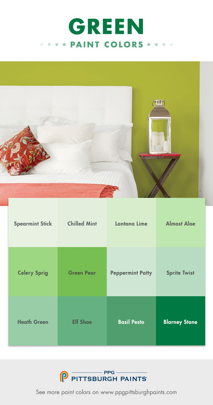 Green paint colors - Green Paint Colors Are Surpassing Blues As One Of The Most Popular Paint Colors Used In
