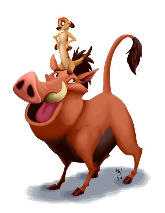 Timon & Pumbaa by Megan Willis [©2011]