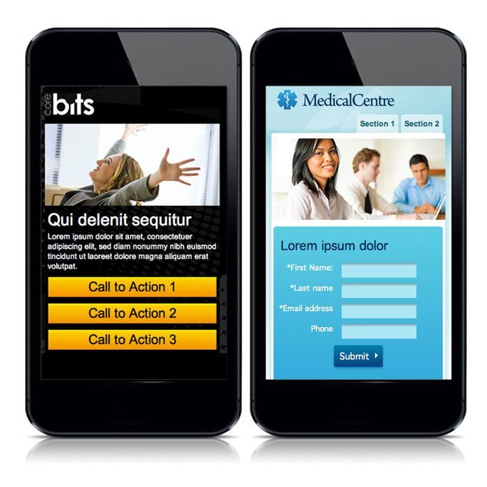 Mobile Landing Page Examples by ion interactive