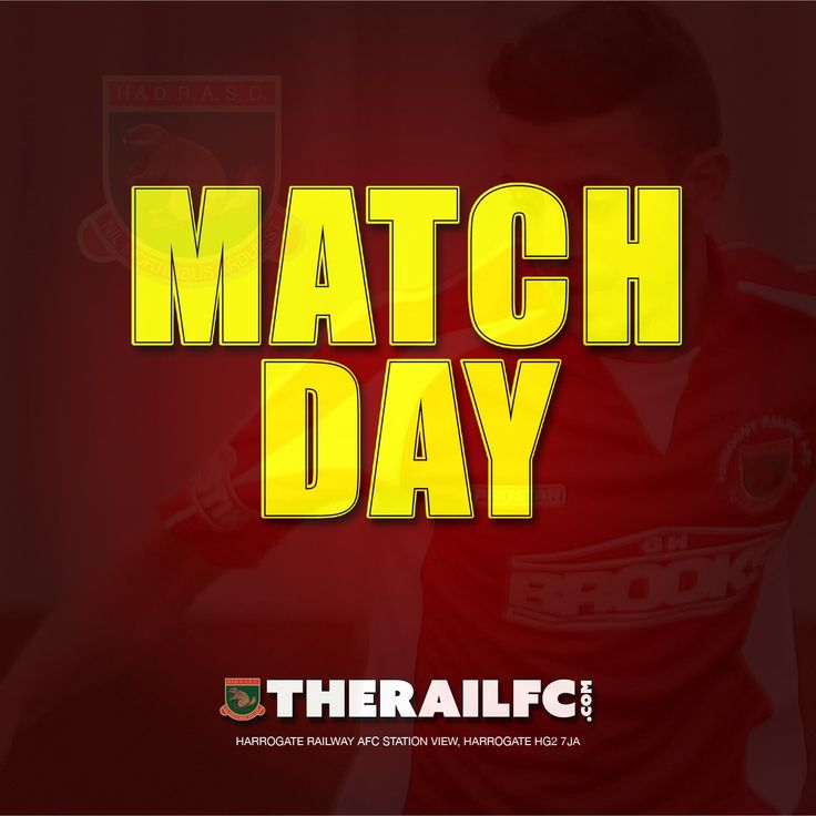 It's match day!    We're looking forward to the game at Station View today!    @therailfc @knaresboroughfc