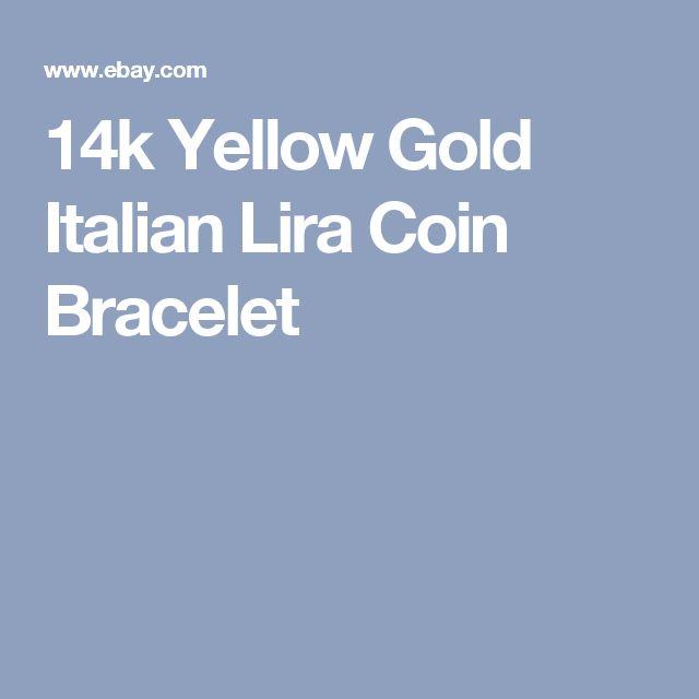 14k Yellow Gold Italian Lira Coin Bracelet