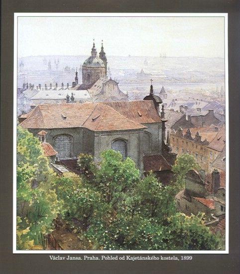 Václav Jansa. Praha od Kajetánského kostela