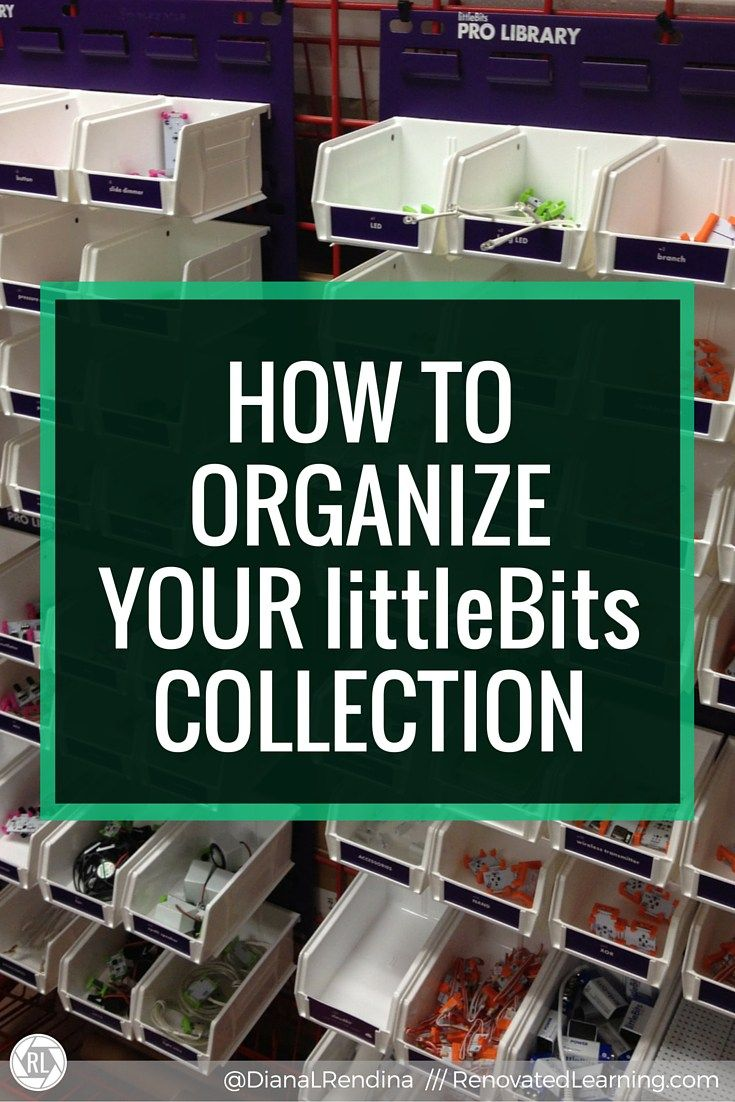 How to Organize Your littleBits collection | In this post, I detail my strategies and best practices for organizing a collection of littleBits. My school has a ProLibrary and 800 students, so finding an effective organization solution was critical.