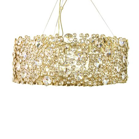 Nessa gold elements fine detailed glittery grand opulence ceiling lamp light chandelier gem beautiful pretty stylish crystals crafted elegant