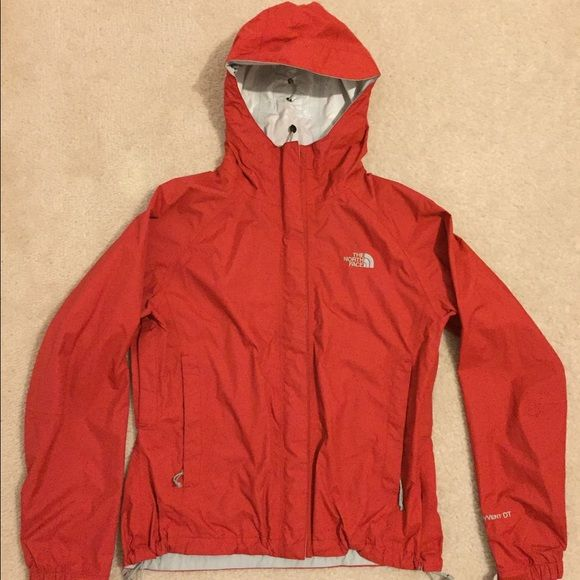 Red North Face Jacket Red north face light rain jacket. Great condition. Hardly worn. North Face Jackets & Coats