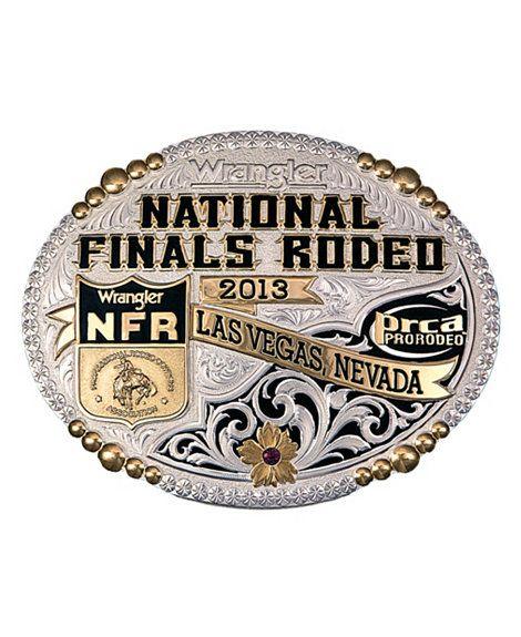 Montana Silversmiths National Finals Rodeo Belt Buckle