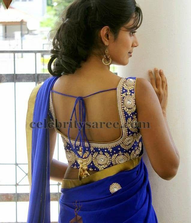Kundan Work Blouse by Varuna Jithesh   Saree Blouse Patterns